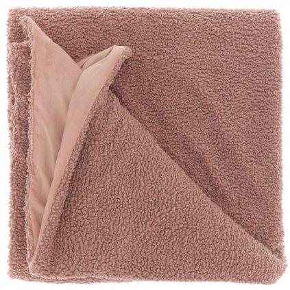 Hrejivá deka s uzlíkmi staroružová Romie 150x200cm