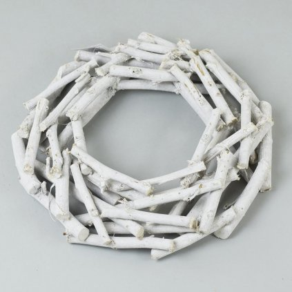 VENIEC prekladane Drievka biela patina 30x6CM