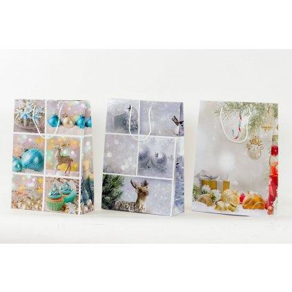 Papierová taška XL, vianočný motív