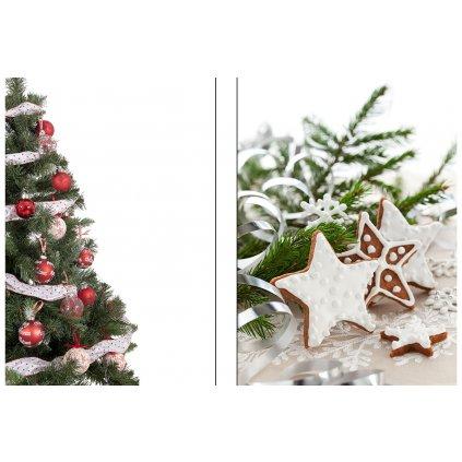 Papierová taška stredná, vianočný motív