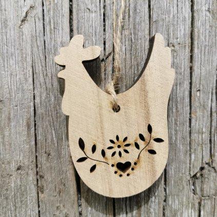sliepočka Drevená na Zvesenie prírodná 5cm
