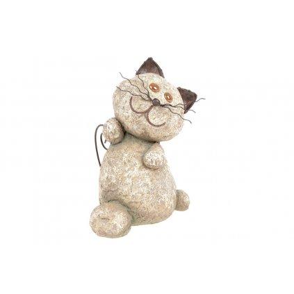 Mačka s LED svetlom (batérie na solárne dobíjanie) 22x29,5x18,5cm