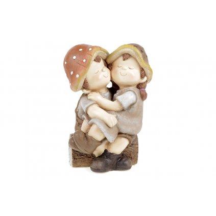 Hubové detičky, záhradné magnéziová keramika 27.5X20X39cm