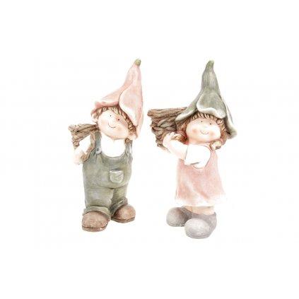Zvonečkové deti obalom na kvety. Magneziová keramika. Cena za 1ks.