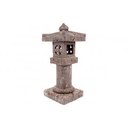 Pagoda so solárnym LED svetlom (batérie na solárne dobíjanie), záhradná magneziová keramika 29.5X28.5X64cm