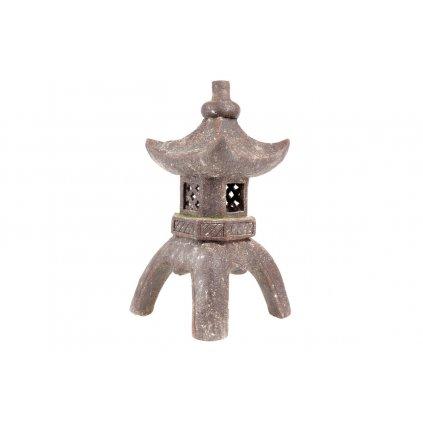 Pagoda so solárnym LED svetlom (batérie na solárne dobíjanie), záhradná magnéziová keramika 33X33X60.5cm