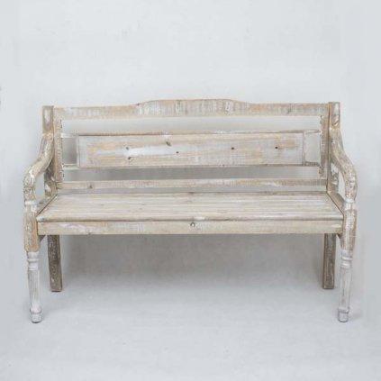 Drevená lavička vintage 130×85 ×40 cm