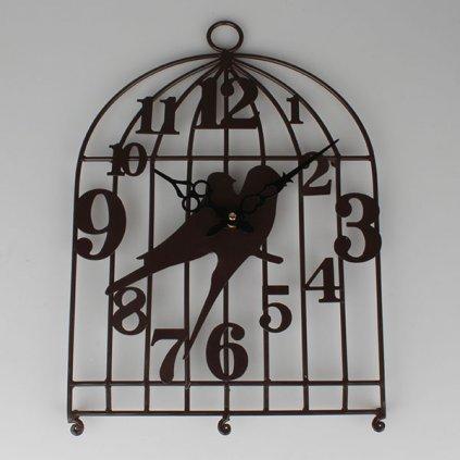 Kovové hodinky s vtáčikmi 42×30×3 cm