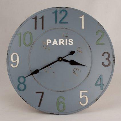 Kovové nástenné hodiny paris 50×4,5cm