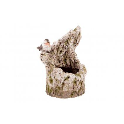 Vetvička s vtáčikom , MgO keramika s otvorom na kvetináč 28x39x24cm