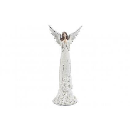 Anjel modliaci dekorácia z polyresinu 12x7x17cm