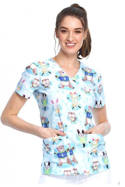 zdravotnicka-halena-cherokee-se-zimnim-potiskem-zviratek-ck614-wooa-01