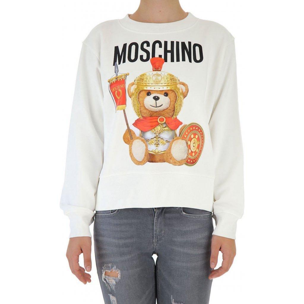 Bílá mikina - MOSCHINO