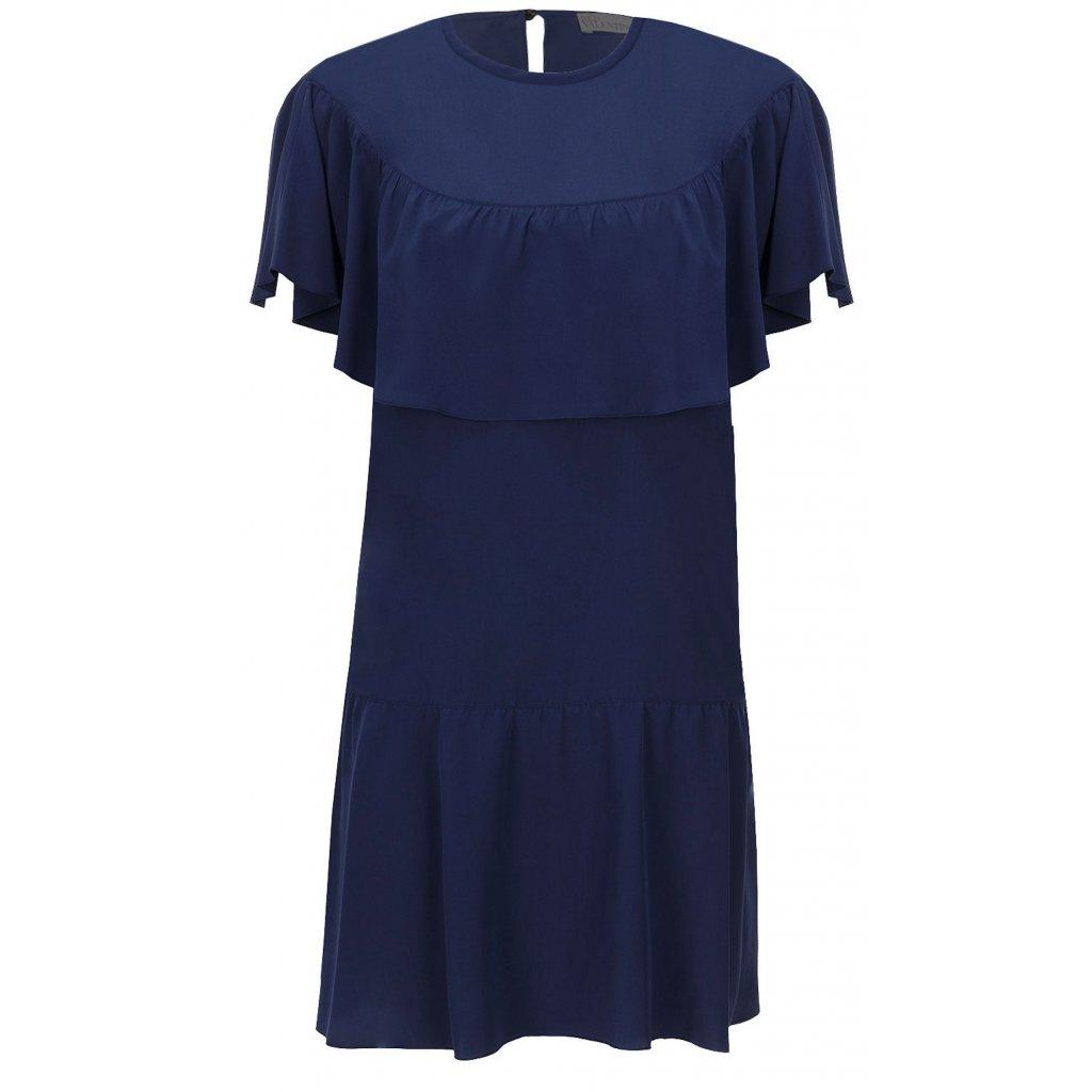 Modré hedvábné šaty - RED VALENTINO
