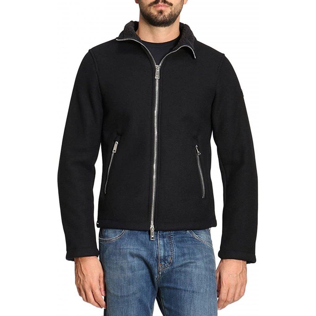 Černá vlněná bunda - ARMANI JEANS