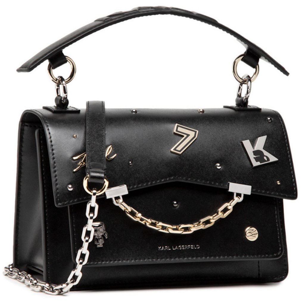 Černá kožená kabelka - KARL LAGERFELD