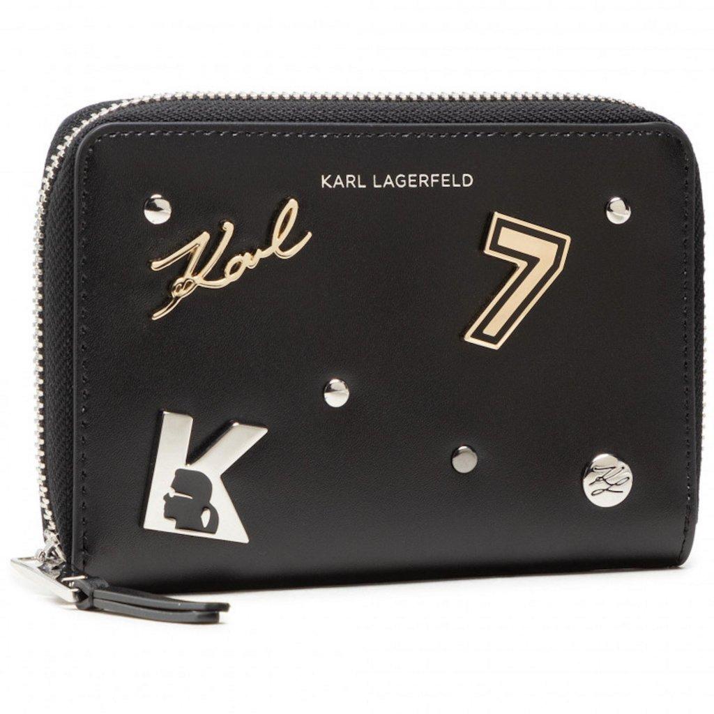 Černá kožená peněženka - KARL LAGERFELD