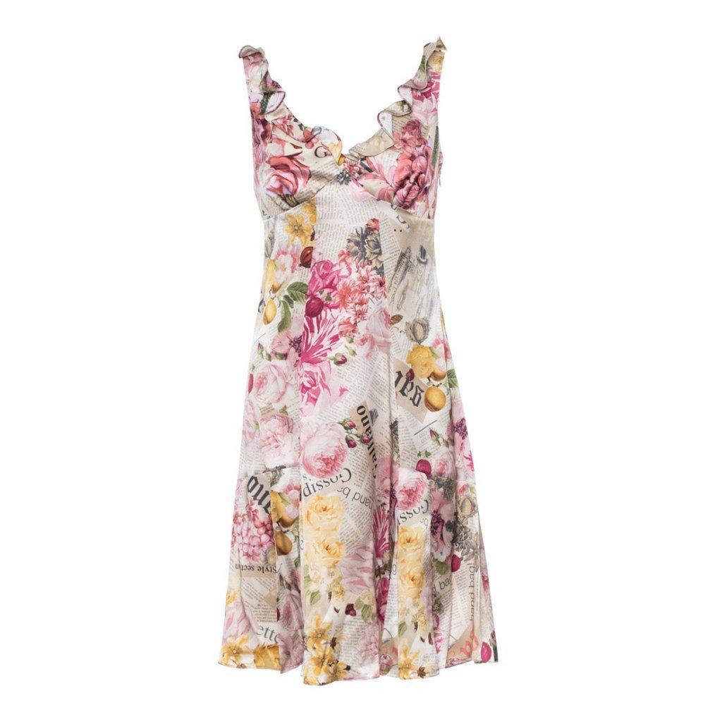 Hedvábné šaty - GALLIANO