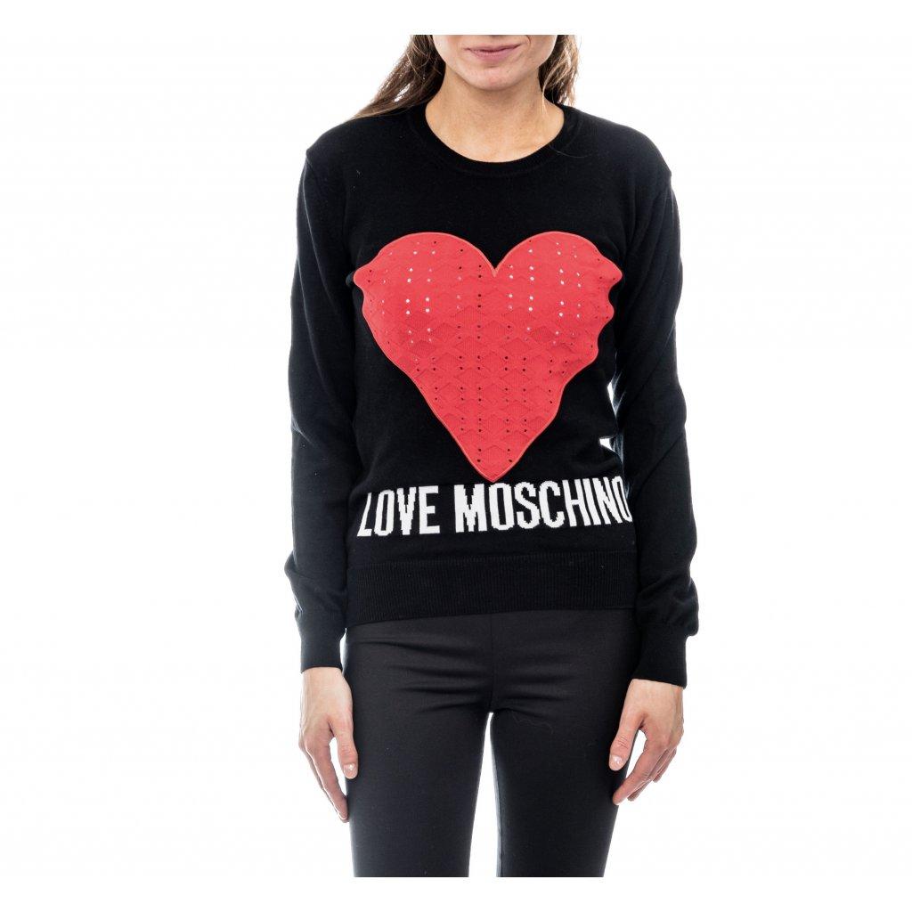 Černý svetr - LOVE MOSCHINO