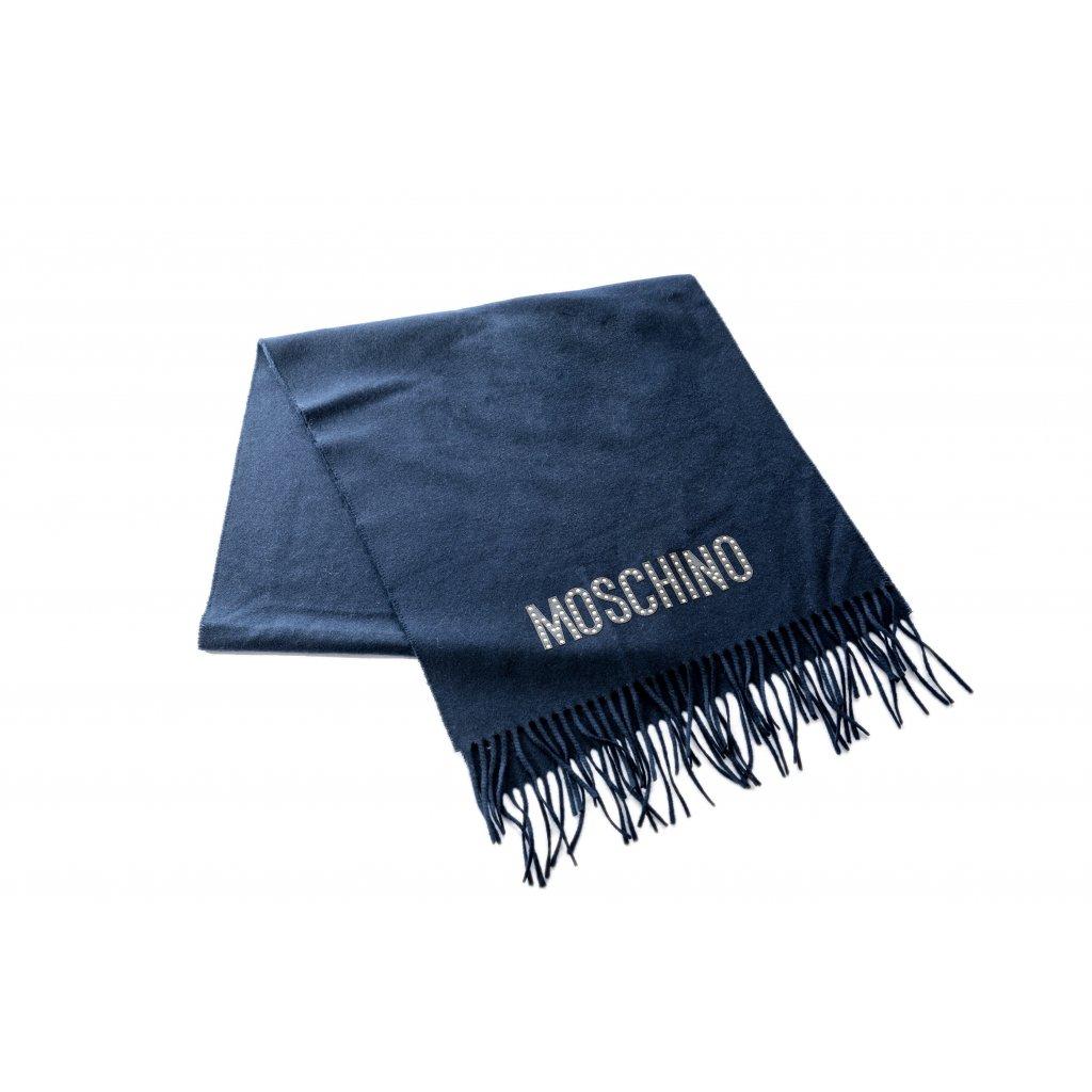 Modrá šála - MOSCHINO