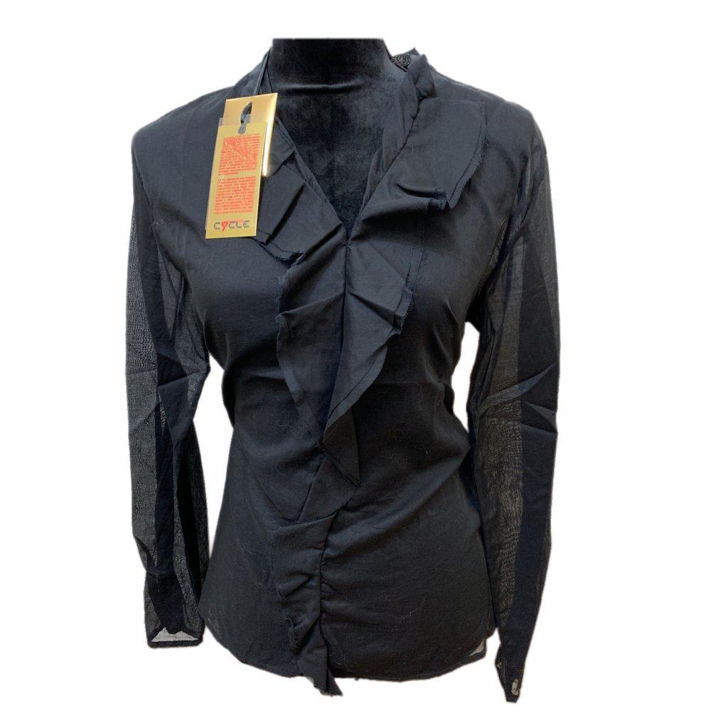 Černá košile s volánem - CYCLE