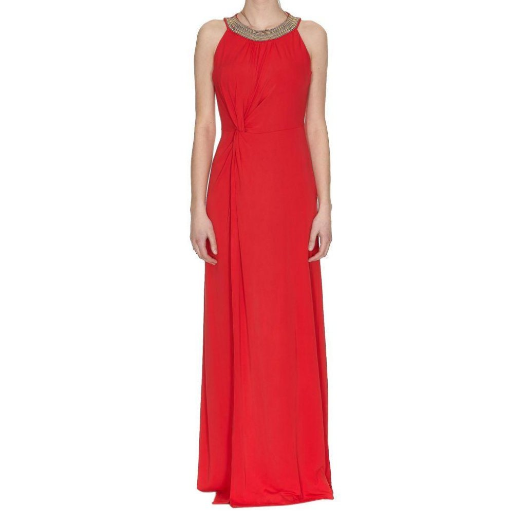 Luxusní červené dlouhé šaty - MICHAEL KORS