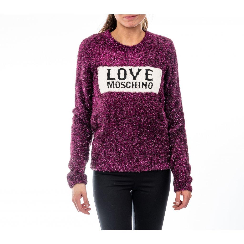 Fialový svetr - LOVE MOSCHINO