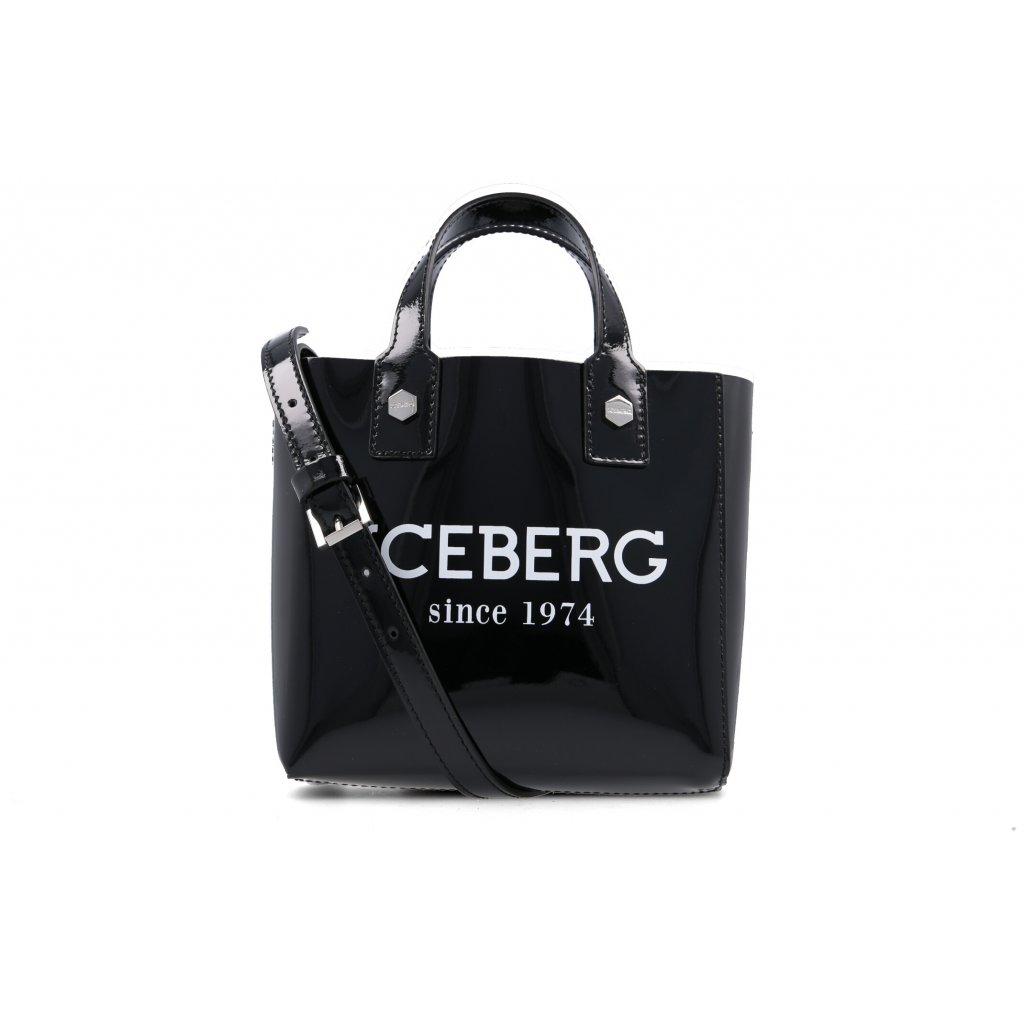 Černá kožená kabelka - ICEBERG