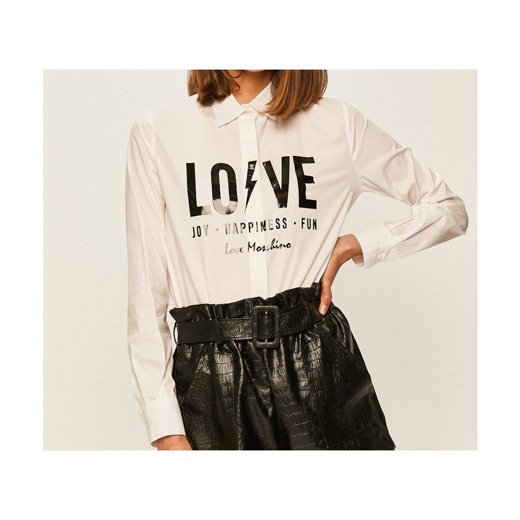 Bílá košile - LOVE MOSCHINO