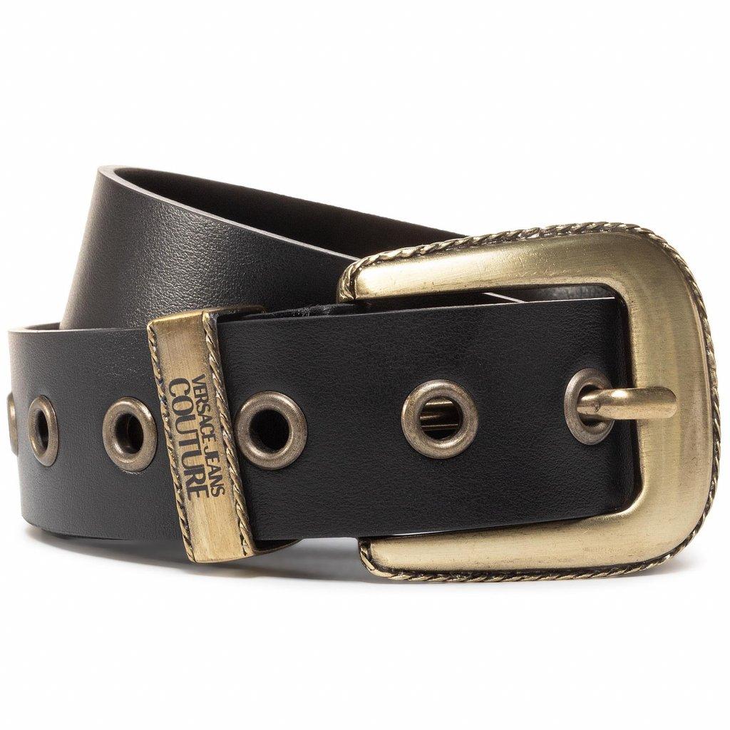 versace jeans couture damsky pasek d8vvbf15 cerna 2