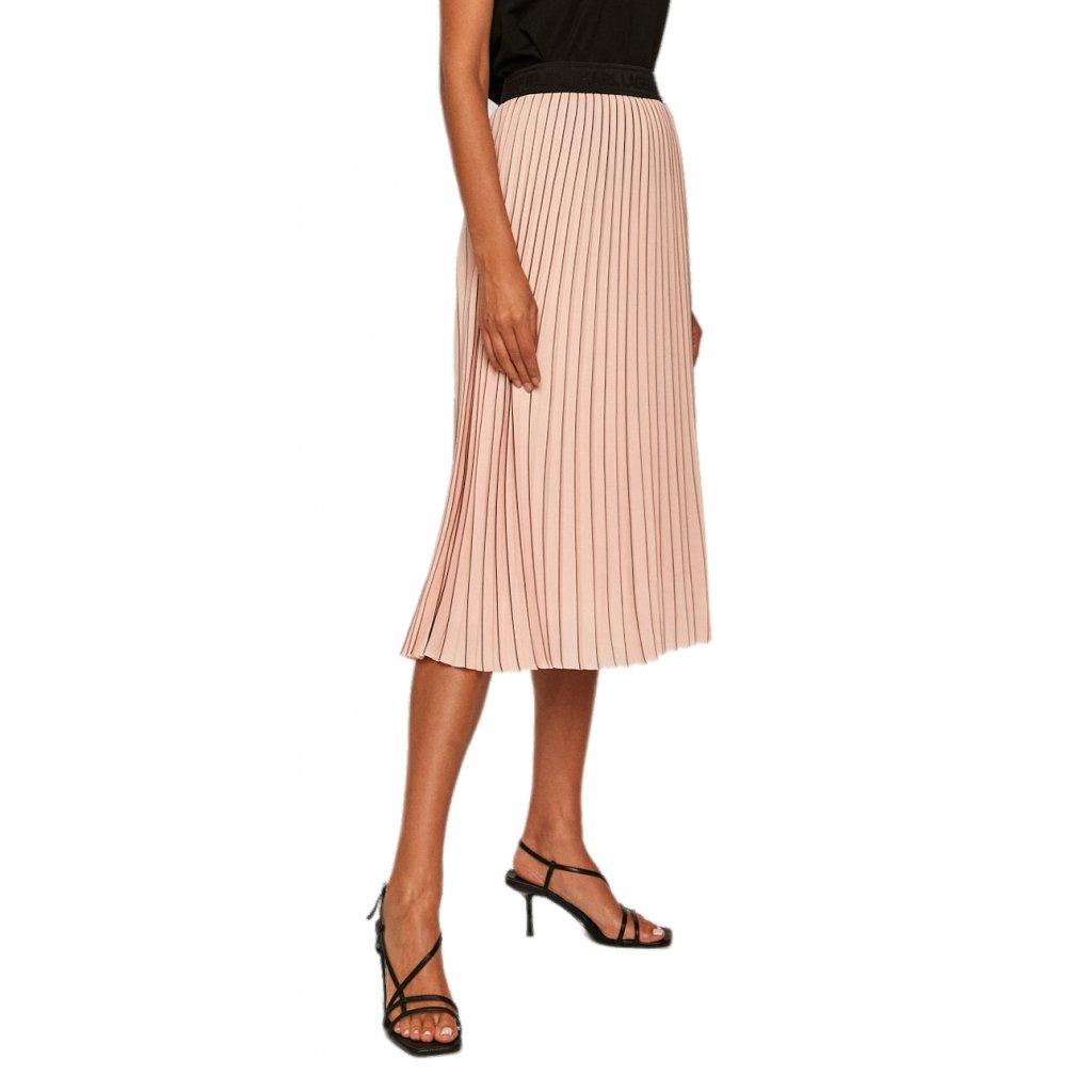 Růžová skládaná sukně - KARL LAGERFELD