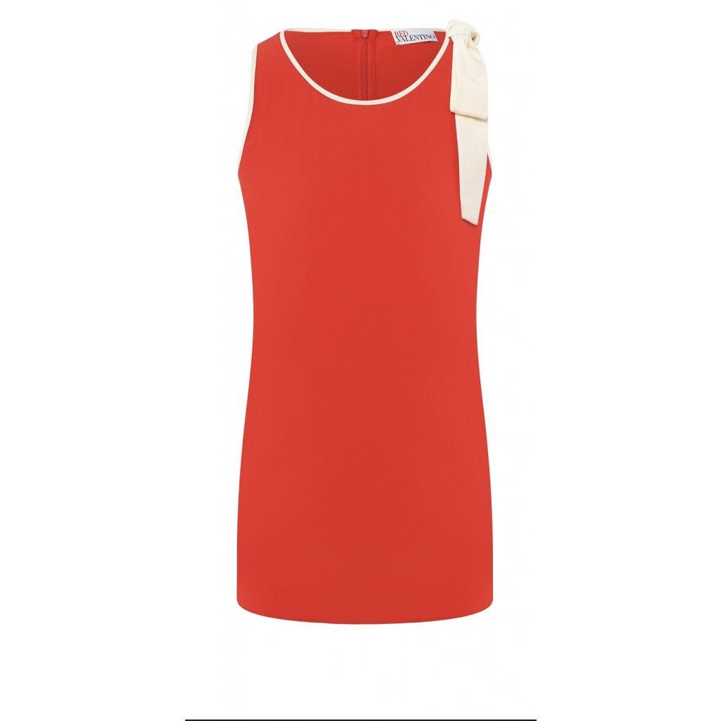 Červený hedvábný top - RED VALENTINO