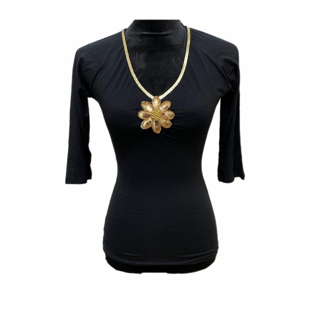 Černé tričko - TRUSSARDI COLECTION