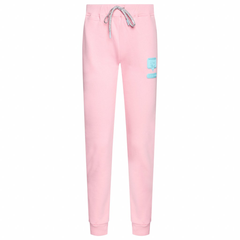 chiara ferragni teplakove kalhoty cfp073 ruzova regular fit 4