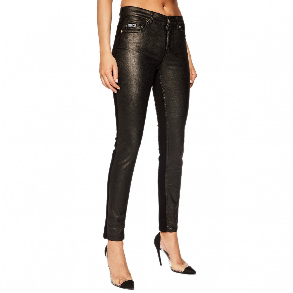 versace jeans couture jeansy slim fit a1hub0kv cerna slim fit cut