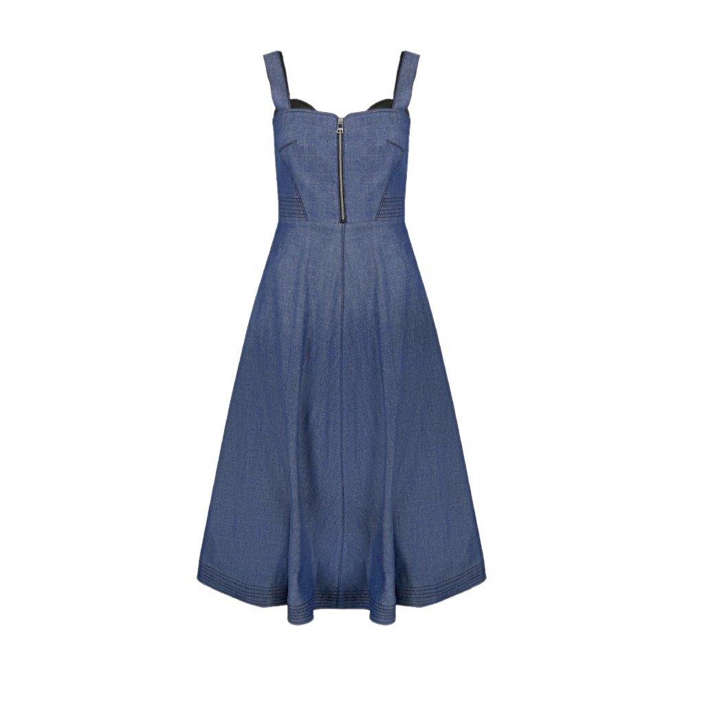 Modré šaty - KARL LAGERFELD