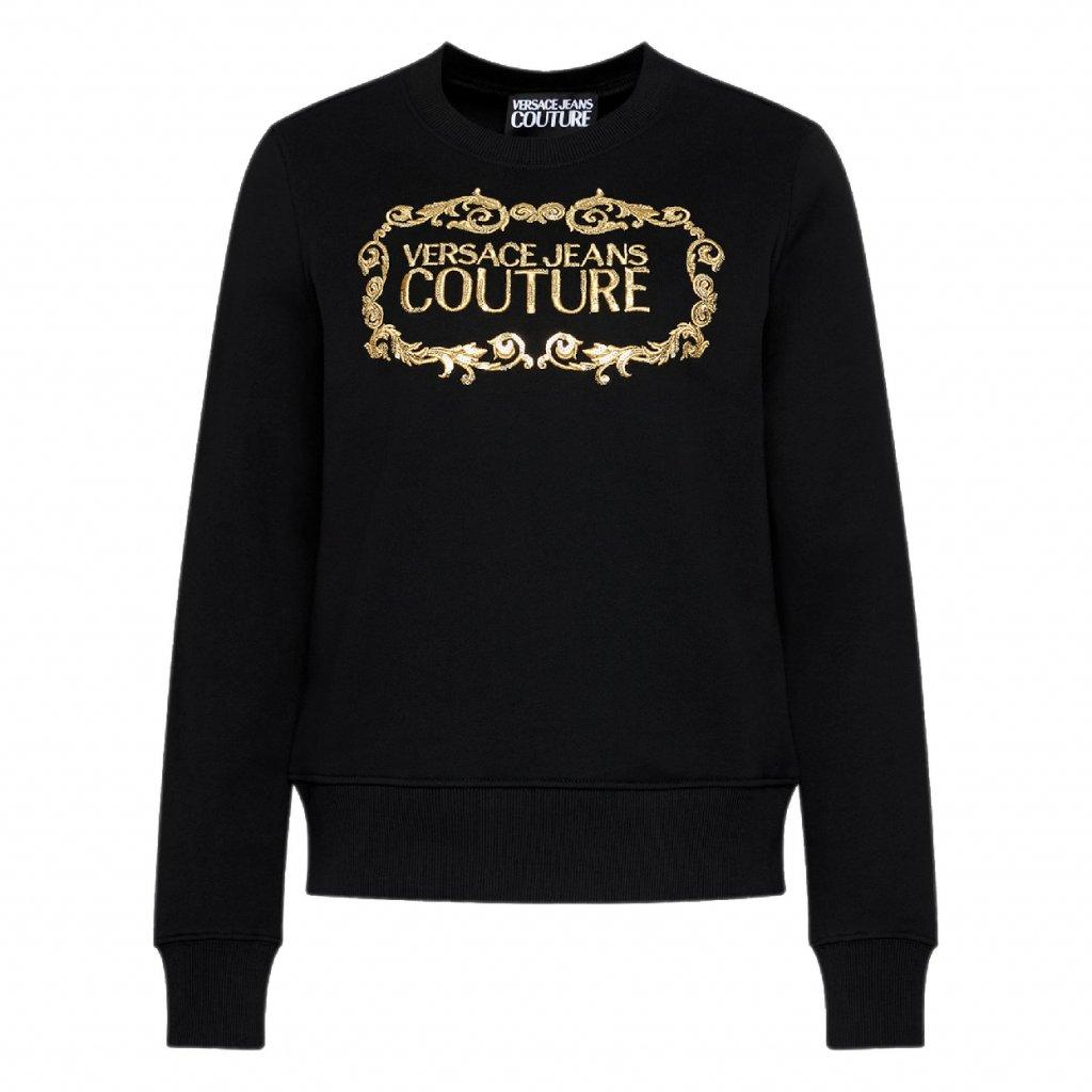 versace jeans couture mikina b6hwa7tm cerna regular fit 5 cut