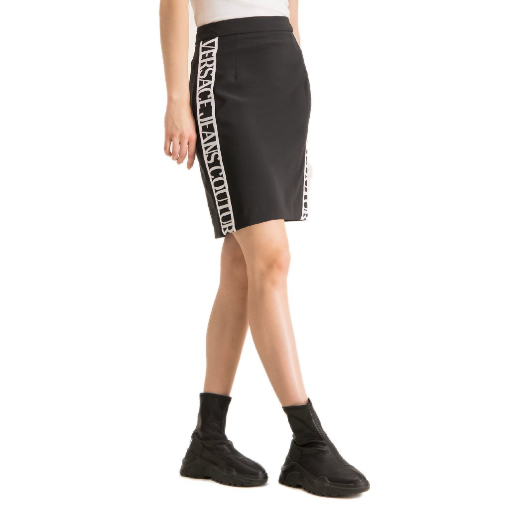 versace jeans couture pouzdrova sukne a9hua316 cerna slim fit cut
