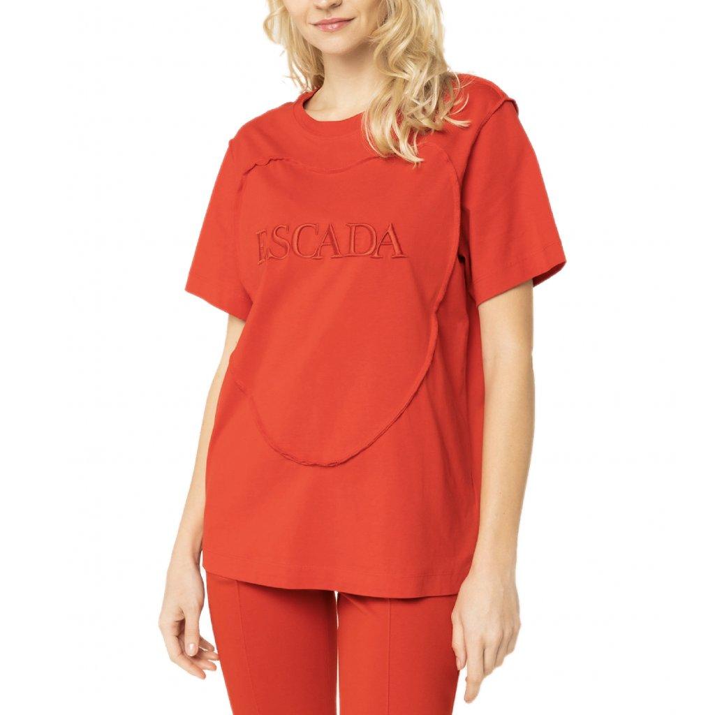 Červené tričko - ESCADA | Rita Ora