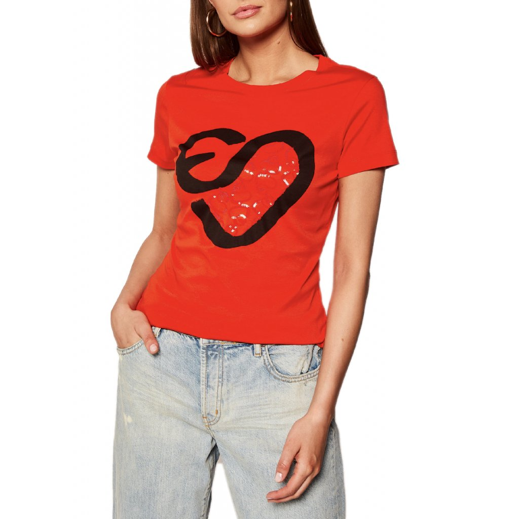 escada sport t shirt elamina 5032737 cervena regular fit cut