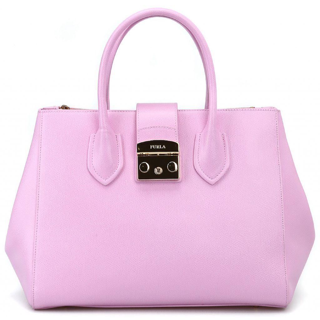 furla totes bags metropolis pink leather medium tote 00000120642f00s001