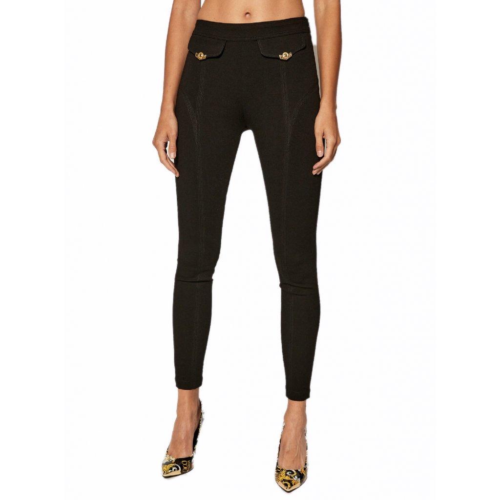 versace jeans couture bavlnene nohavice d5hzb165 cierna slim fit cut