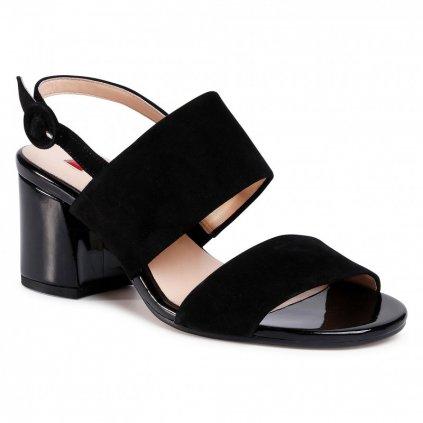Černé kožené sandály - HÖGL