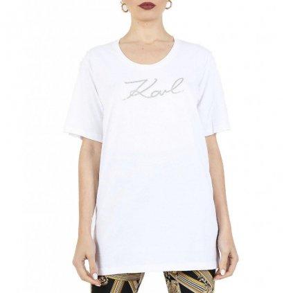 Bílé plážové triko - KARL LAGERFELD
