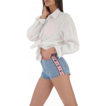 Modré džínové šortky - CHIARA FERRAGNI