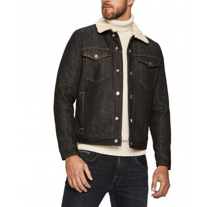 Tmavě modrá džínová bunda - ARMANI EXCHANGE