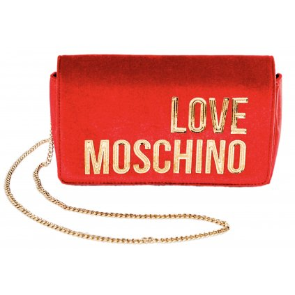 Červená sametová kabelka - LOVE MOSCHINO