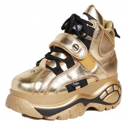 Zlaté kožené sneakers - BUFFALO LONDON