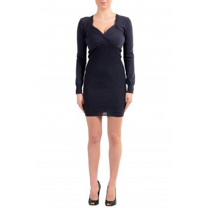 Černé vlněné šaty - GALLIANO
