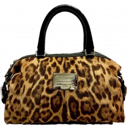 Kožená kabelka se zvířecí srstí - DOLCE A GABBANA | Miss Urbanette